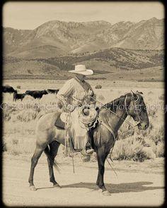 Nevada Cowboy Print-makes me want to go home again