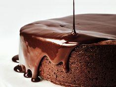 Darkest Chocolate Cake with Red Wine Glaze Recipe | http://www.epicurious.com/recipes/food/views/Darkest-Chocolate-Cake-with-Red-Wine-Glaze-51214740