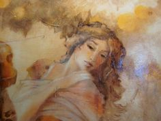 Lovely face - detail of a painting by Lena Sotskova.