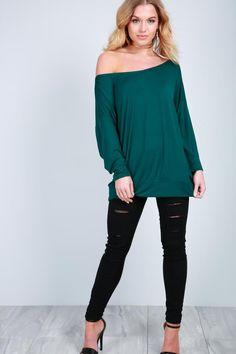 7da27384ab123 Sophie Off Shoulder Long Sleeve Top