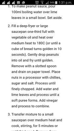 Peanut sauce method