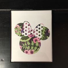Floral Minnie Mouse Framed Print Floral Minnie Mouse framed print 8 X 10 Other