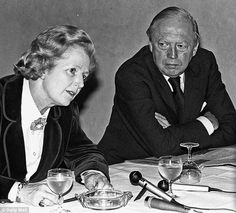 Close: Margaret Thatcher with her  friend and advisor Airey Neave at a 1978 press conference