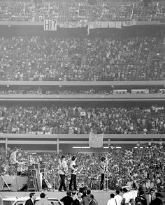 The Beatles at Shea Stadium 51 years ago.