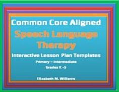 Speech/Language+Therapy+Lesson+Plan+Templates+aligned+to+the+Common+Core+Standards+for+Grades+K-5   ++For+Speech+Language+Therapists!  Please+see+note+regarding+use+on+Macs+at+the+bottom+of+this+description.+Interactive+features+in+these+templates+will+not+work+on+a+Mac.
