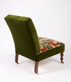 Needlepoint Upholstered Slipper Chair | From a unique collection of antique and modern slipper chairs at https://www.1stdibs.com/furniture/seating/slipper-chairs/