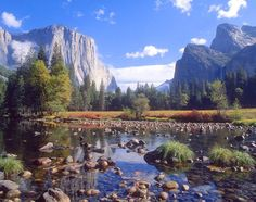 Photographic Print: Valley View of El Capitan, Cathedral Rock, Merced River in Yosemite National Park, California, USA by Dee Ann Pederson : Yosemite California, California National Parks, Yosemite Valley, California Trip, Great Places, Places To See, Beautiful Places, Amazing Places, Waterfalls