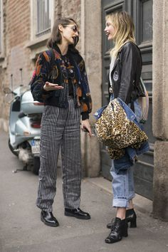 Milan Fashion Week Street Style: Winter Catch Up on the Best Model Street Style Moments at MFW Model Street Style, Street Style Vintage, Looks Street Style, Grunge Street Style, Tomboy Street Style, Trend Fashion, Milan Fashion Weeks, Fashion Kids, Look Fashion