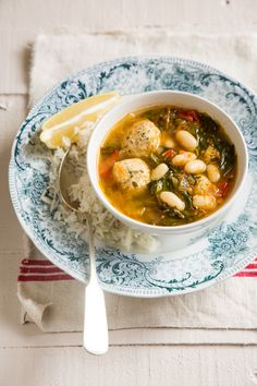 ciorba soup with chicken balls