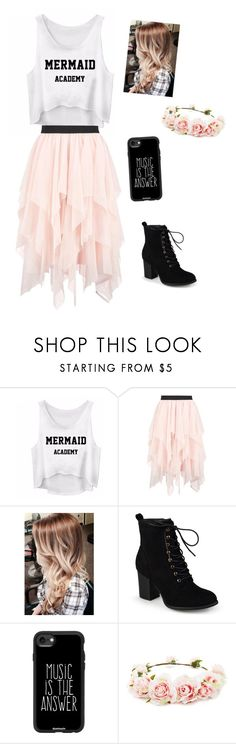 """Mermaid Academy"" by green-luv5 on Polyvore featuring Boohoo, Journee Collection, Casetify, Forever 21, music and 2017"