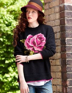 In Bloom Pullover: free #knitting #sweater #pattern
