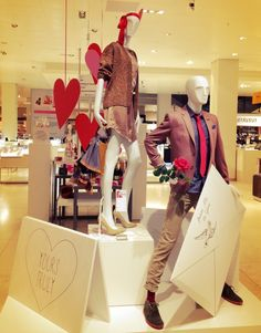 Visual Merchandising | Display: Valentine's Day Display ~ Loveletters to..... De Bijenkorf Eindhoven Feb. 2013