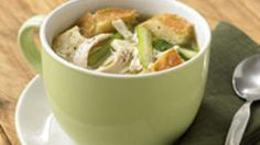 Chicken, celery and bread broth | Chicken, celery and bread broth