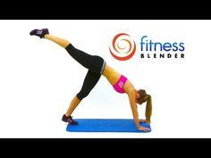 Fitness Blender's Butt Lift Workout - Butt Toning Exercises.  Circuit: Downward Dog w/ Leg Raise (14 each leg); 14 Squats + Leg Kick Back; Standing Rear Leg Raises (20 each side); Butt Twister (14 each leg); 14 Swinging Bridges; 28 Step Up Kick Backs - alternating; Assisted Single Leg Lunges (14 each side) and 14 Plie Squats + Upright Rows.  Repeat circuit twice.
