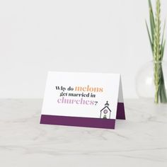 Engagement Card   Can't Elope - tap, personalize, buy right now!  #illustration #wedding #melon #orange #purple Gifts For Dad, Great Gifts, Engagement Cards, Custom Thank You Cards, Getting Engaged, Candy Jars, Business Supplies, Got Married, Place Card Holders