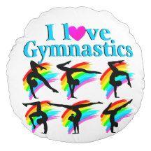 AWESOME I LOVE GYMNASTICS ROUND PILLOW http://www.zazzle.com/mysportsstar/gifts?cg=196751399353624165&rf=238246180177746410   #Gymnastics #Gymnast #WomensGymnastics #Gymnastgift #Lovegymnastics