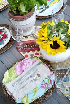 Pretty table setting from Little Miss Momma & Take home gifts for an Italian dinner party / grape cookies by ...