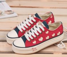 hearts sneakers