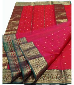 Pink Chanderi Handloom Silk Saree-----------------------Grab The Second Look In This Elegant Attire. Real Beauty Comes Out From Your Dressing Style With This Redish pink  saree This Lovely saree Is Looking Extra Beautiful With this golden border.----------Sarees from luxurionworld.com