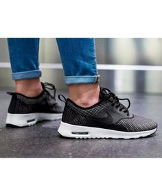 new arrival 72677 f2140 Air Max Thea Jcrd Grey Black Silver Unisex Trainer Wear on the feet feel  very breathable, the design of the rationality of feeling very comfortable.