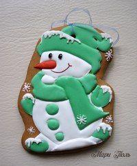 Вкусное - красиво, красивое - вкусно! Fancy Cookies, Cute Cookies, Cupcake Cookies, Cupcakes, Christmas Biscuits, Christmas Sugar Cookies, Christmas Deserts, Noel Christmas, Cookie Frosting