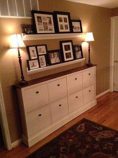 This week, I want to talk about something that I need to do, that is my shoe cabinets decor. My shoe cabinets are the HEMNES by Ikea. Hallway Storage, Bedroom Storage, Wall Storage, Wall Shelves, Dresser Storage, Ikea Shelves, Bedroom Wall, Hallway Cabinet, Ikea Drawers