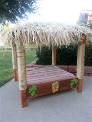 Tiki Tropical Hut Dog Lounger Pet Bed in Large-Donation for 2015