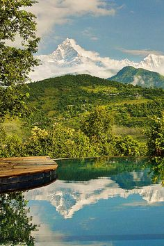 Tiger Mountain Pokhara Lodge in Nepal is surrounded by breathtaking views of the mighty Himalayas #Indistay   Pokhara, Nepal