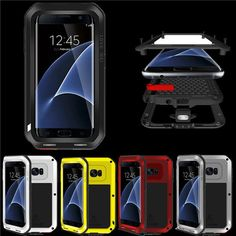 Love Mei Dirt/Shockproof Aluminum Metal Cover Case For Samsung Galaxy S7 Edge