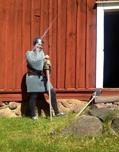 """When it's raining outside we like to look back at sunnier days when we had a knightly visit at the museum, """"he"""" practically sparkled with """"his"""" pressence! ✨"""