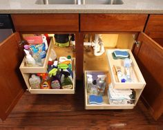 Oh I like this under the sink idea