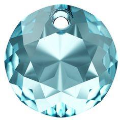 SWAROVSKI® 6430 Classic Cut Pendant (202 Aquamarine) Swarovski Pendant, Crystal Pendant, Swarovski Crystals, Make A Donation, Pendants, Beads, Classic, Innovation, How To Make