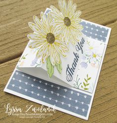 Daisy Delight Punch Stampin Up tutoriels de cartes gratuites Lyssa Song My Heart carte d'action stand-up