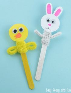 Easter crafts for having fun yours familly - Homemidi crafts popsicle sticks Kids Crafts, Christmas Crafts For Kids, Toddler Crafts, Easter Crafts, Projects For Kids, Diy For Kids, Gifts For Kids, Easter Decor, Popsicle Stick Crafts