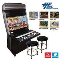 "Vewlix L 32"" Arcade Cabinet with 2 Stools"