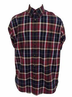 Orvis Flannel Shirt Size XL Button Front Long Sleeve Plaid #Orvis #ButtonFront