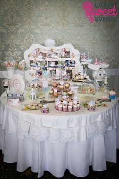 Christening Candy Buffet Candy Bar Botez – Shabby Chic Mara  
