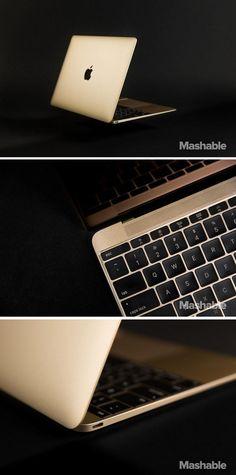 Apple's new gold MacBook.