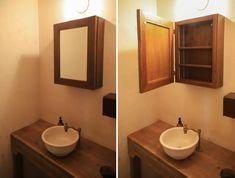 【楽天市場】OLD ASHIBA(足場板古材)ミラーキャビネット Lサイズ 無塗装幅500mm×高さ680mm×奥行150mm【洗面収納棚】【洗面鏡】【アンティーク風】【受注生産】 【小型商品】:WOODPRO(ウッドプロ) Vanity, House Design, Mirror, Bathroom, Interior, Furniture, Home Decor, Dressing Tables, Washroom