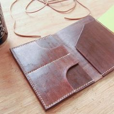 Leather Passport Wallet T09