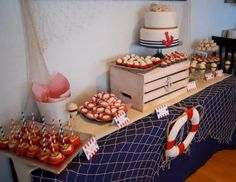 Nautical theme dessert table for my Bridal Shower  By: Le Petite Chef