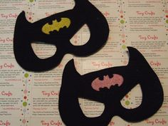 Batman Batgirl Symbol inspired felt mask for dress up or Halloween Costume Pretend Play Imagination Education party favor by Tiny Crafts Elf Doll, Dolls, Dress Up Closet, Felt Mask, Pretend Play, Party Favors, Doll Clothes, Batman, Education
