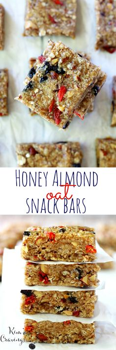 These chewy honey almond oat snack bars make a wholesome replacement for unhealthy store-bought snacks. Mix up the five-ingredient recipe after dinner, and they'll be ready for your child's lunch box and your own by morning! #ad