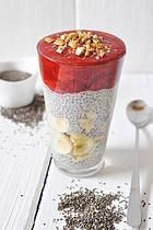 nads healthy kitchen | chia pudding with nana-cinnamon icecream
