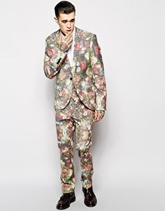 Hype X Noose & Monkey Suit With Destroy Print In Skinny Fit