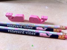 sooo cute!! Vineyard Vines pencils and the whale from them! Need this for next school year!