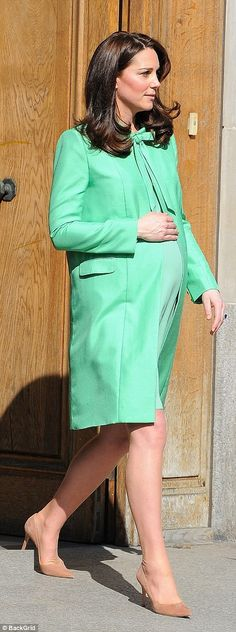 While she's been able to fit into regular clothes throughout her pregnancy, the Duchess ha...