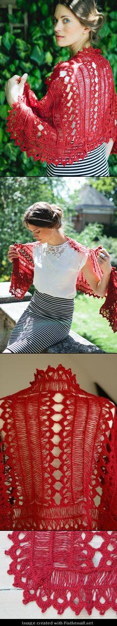 beautiful hairpin lace crochet shawl