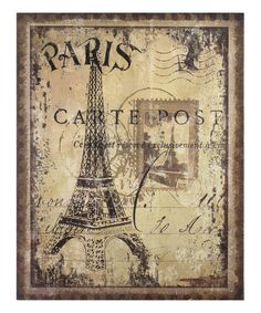 Look at this Eiffel Tower Burlap Wall Décor on #zulily today!