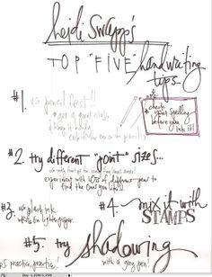 top 5 handwriting tips